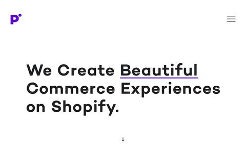 Screenshot of Home Page pointercreative.com - We Create Beautiful Commerce Experiences on Shopify – Pointer Creative - captured Nov. 27, 2017