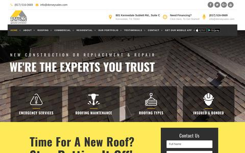Screenshot of Home Page dorseysunlimitedconstruction.com - Dorsey's Unlimited Construction ~ 817-516-0669 ~ Call Us! - captured Oct. 25, 2018