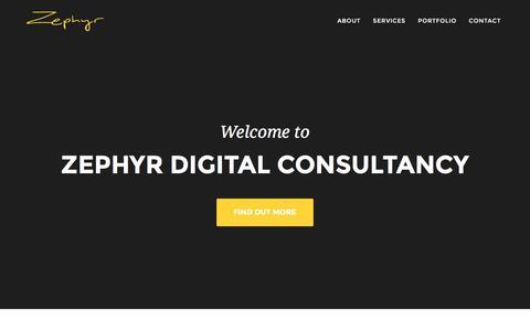Screenshot of Home Page zephyrdigitalconsultancy.com - Zephyr Digital Consultancy - captured March 3, 2016