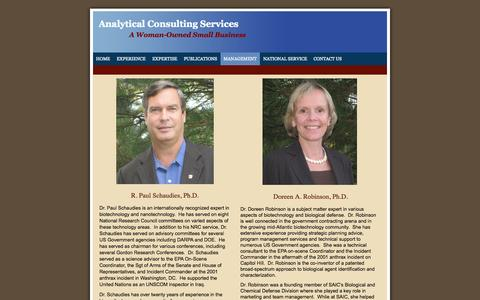 Screenshot of Team Page acsllc.biz - Analytical Consulting Services LLC - About Us - captured Oct. 4, 2014