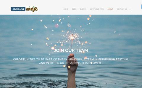 Screenshot of Jobs Page campingninja.com - Jobs - Campingninja - captured July 15, 2018