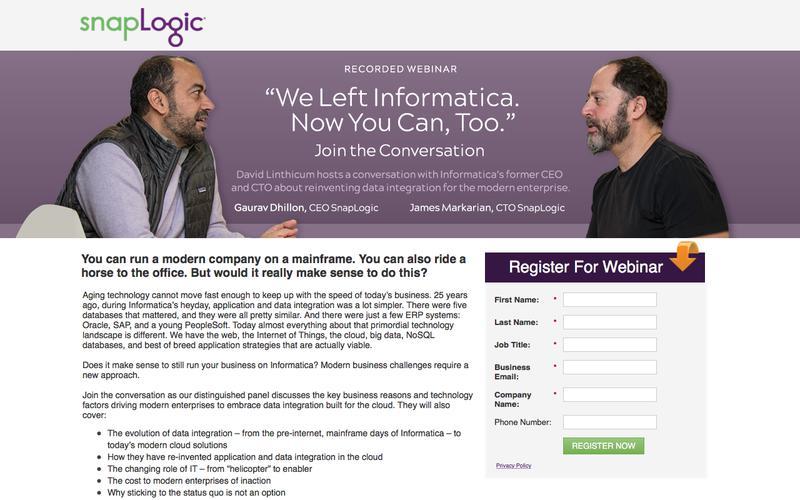 Webinar: We Left Informatica. Now You Can, Too.