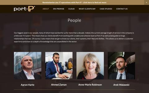 Screenshot of Team Page port-p.com - People — PORT-P - captured Nov. 5, 2018