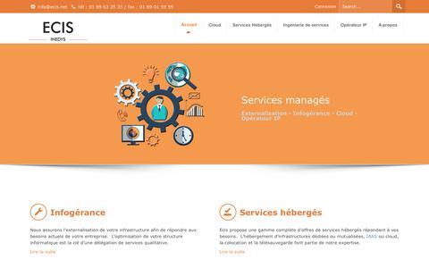 Screenshot of Privacy Page ecis.net - Infogérance, hébergement, services, opérateur - Ecis.net - captured Sept. 19, 2017