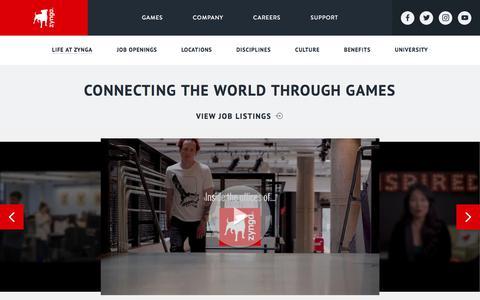 Screenshot of Jobs Page zynga.com - Careers - Zynga - Zynga - captured Jan. 7, 2020