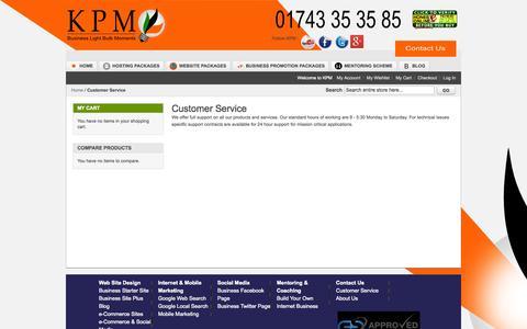 Screenshot of Support Page keypagemedia.com - Customer Service - captured Sept. 30, 2014