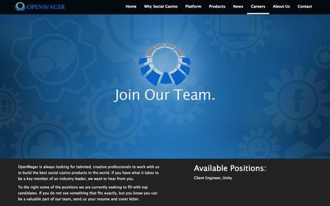 Screenshot of Jobs Page openwager.com - Job Posts | OpenWager - captured Feb. 21, 2016