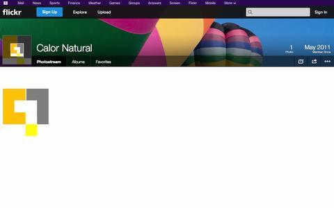 Screenshot of Flickr Page flickr.com - Flickr: Calor Natural's Photostream - captured Oct. 22, 2014