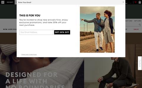 Screenshot of gap.com - Shop Banana Republic for Contemporary Clothing for Women & Men - captured Sept. 13, 2018