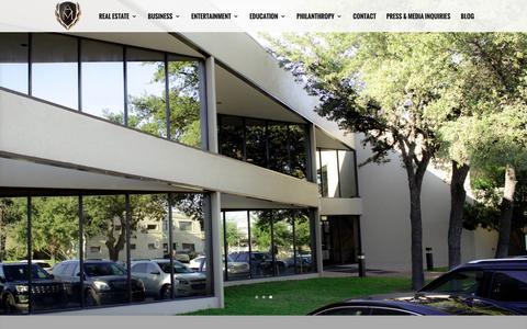 Screenshot of Home Page armandomontelongo.com - Armando Montelongo | Real Estate, Entertainment, Speaker - captured April 1, 2016