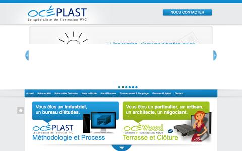 Screenshot of Home Page oceplast.fr - OCEWOOD - OCEPLAST - captured Oct. 9, 2014