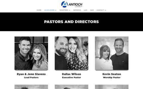 Screenshot of Team Page antiochchurch.com - Leadership - Antioch Church - captured Nov. 6, 2018