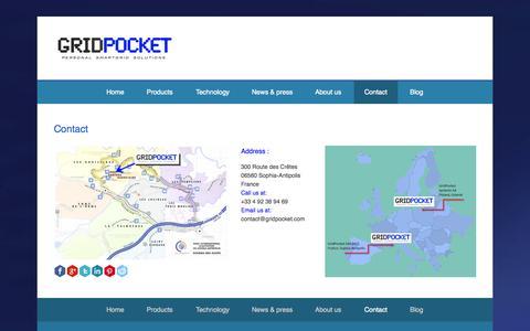 Screenshot of Contact Page gridpocket.com - Contact GridPocket   GridPocket - captured Nov. 2, 2014