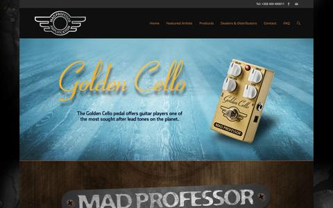 Screenshot of Home Page mpamp.com - Mad Professor Amplification LTD | Guitar Pedals and Amplifiers - captured Oct. 4, 2014