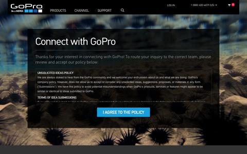 Screenshot of Contact Page gopro.com - GoPro Official Website - Capture + share your world - captured June 17, 2015