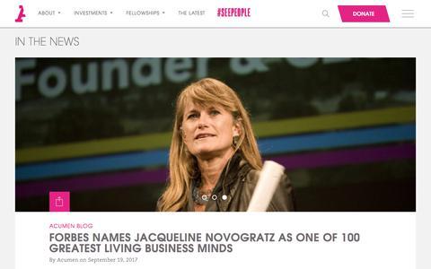 Screenshot of Blog acumen.org - Acumen | Blog - - captured Oct. 20, 2017