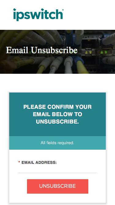Ipswitch Email Unsubscribe