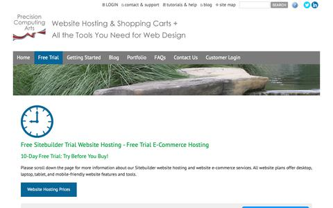 Screenshot of Trial Page fastwebdev.com - Website Free Trial - Website Hosting - 10-Day Free Trial Website Hosting - 10-Day Free Trial E-Commerce Hosting - Website Hosting, E-Commerce Shopping Cart Hosting, Free Trial Websites, Mobile-Friendly Websites (Tucson, AZ) - captured Oct. 21, 2018