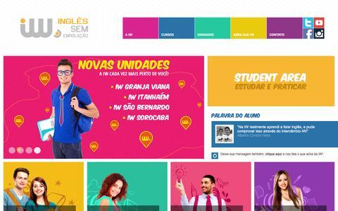 Screenshot of Home Page inglessemenrolacao.com.br - iW • Inglês sem enrolação - captured Feb. 23, 2016