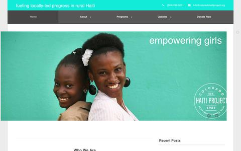 Screenshot of Home Page coloradohaitiproject.org - Colorado Haiti Project - captured Oct. 22, 2017