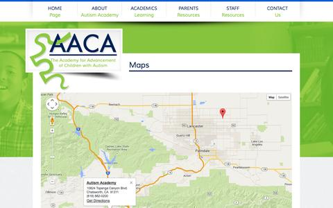 Screenshot of Maps & Directions Page autismacademy.org - Autism Academy - captured Oct. 4, 2014