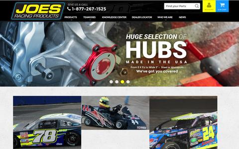 Screenshot of Home Page joesracing.com - JOES Racing Products - captured Feb. 4, 2016