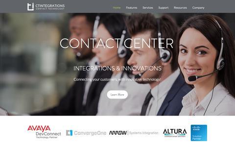 Screenshot of Home Page ctintegrations.com - Home | CTIntegrations - captured Sept. 26, 2018