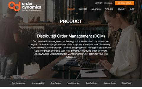 Screenshot of Support Page orderdynamics.com - Distributed Order Management (DOM) | OrderDynamics - captured Sept. 19, 2017