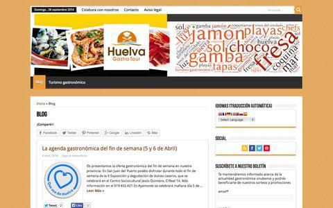 Screenshot of Blog huelvagastrotour.com - Blog - captured Sept. 30, 2014
