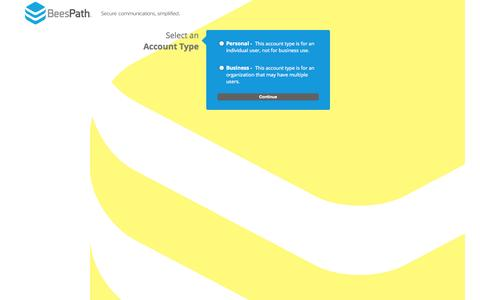Screenshot of Signup Page beespath.com - BeesPath - New Account Signup - captured Oct. 27, 2014