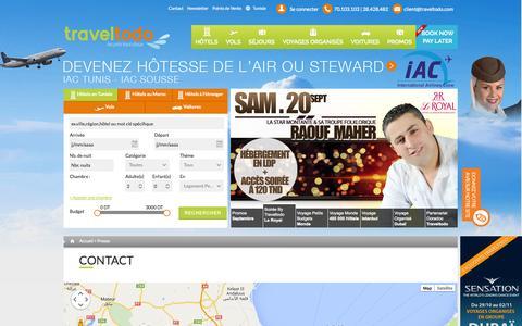 Screenshot of Contact Page traveltodo.com - Contact | Traveltodo - captured Sept. 19, 2014