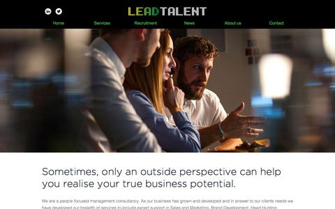 Screenshot of Home Page lead-talent.co.uk - Lead Talent - captured July 28, 2017