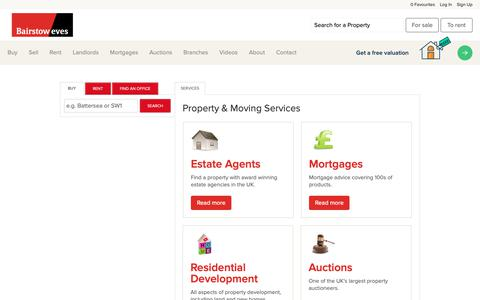 Screenshot of Services Page bairstoweves.co.uk - View our range of services available from home insurance to mortgages plus much more - captured Oct. 5, 2018