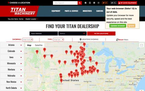Screenshot of Locations Page titanmachinery.com - Locations | Titan Machinery - captured Sept. 26, 2019