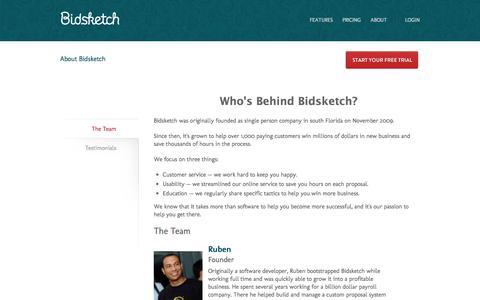 Screenshot of bidsketch.com - About Bidsketch Proposal Software | Bidsketch - captured Oct. 2, 2015