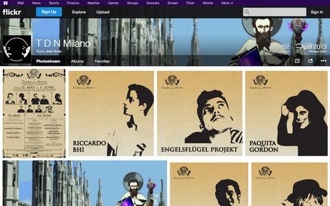 Screenshot of Flickr Page flickr.com - Flickr: Teatro della Notte's Photostream - captured Oct. 26, 2014