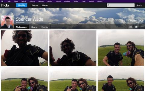 Screenshot of Flickr Page flickr.com - Flickr: spencerwade's Photostream - captured Oct. 26, 2014