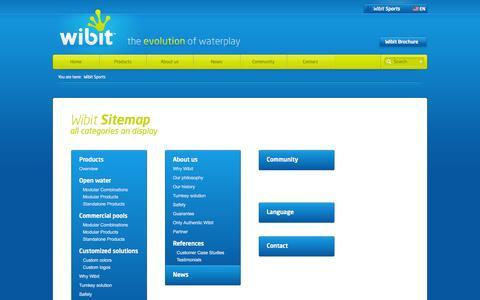 Screenshot of Site Map Page wibitsports.com captured Sept. 24, 2014