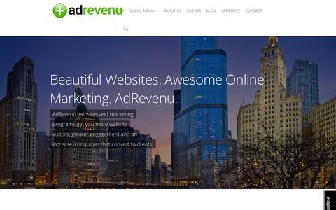 Screenshot of Home Page adrevenu.com - AdRevenu - Web Design & Social Media Company - captured Oct. 1, 2014