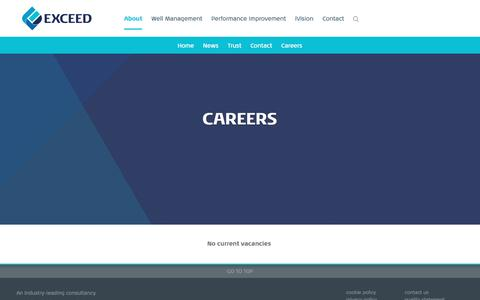 Screenshot of Jobs Page xcd.com - About Us | Exceed | xcd - captured Nov. 12, 2016