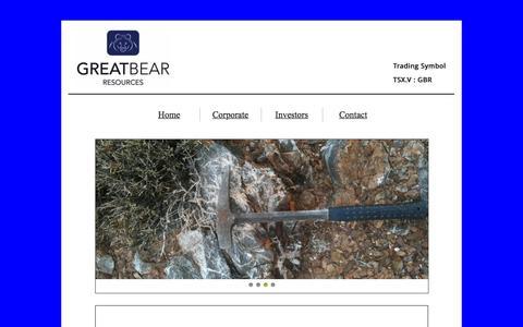 Screenshot of Contact Page greatbearresources.ca - Contact - captured Dec. 12, 2015