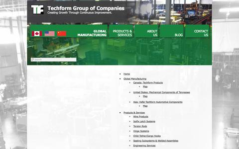 Screenshot of Site Map Page techform.com - Site Map | Techform Group of Companies - captured Oct. 9, 2014
