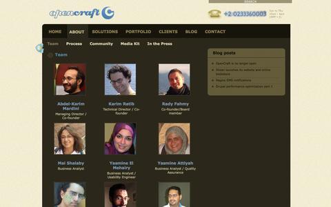 Screenshot of Team Page open-craft.com - Team | OpenCraft - captured Jan. 10, 2016