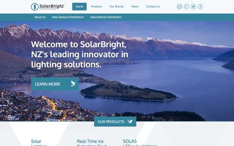 Screenshot of Home Page solarbright.co.nz - Solar and LED Lights :: Solar Bright - captured Feb. 23, 2016