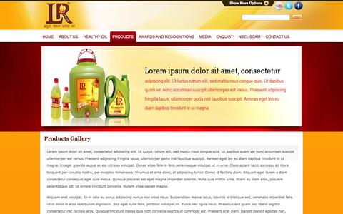 Screenshot of Products Page lotusrefineries.com - Lotus Refineries - captured Oct. 3, 2014