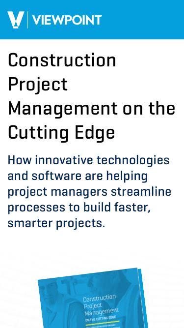 Construction Project Management on the Cutting Edge