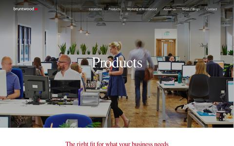 Screenshot of Products Page bruntwood.co.uk - Coworking, Office space, Retail space, Meeting rooms  | Bruntwood - captured Aug. 4, 2018