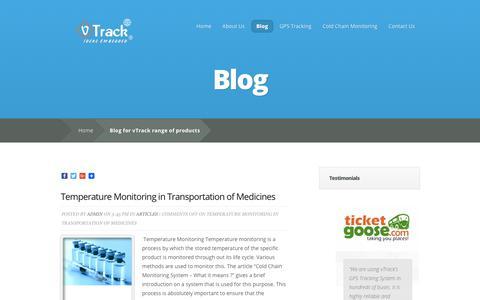 Screenshot of Blog vtrack.in - Blog for vTrack range of products - captured Sept. 27, 2018