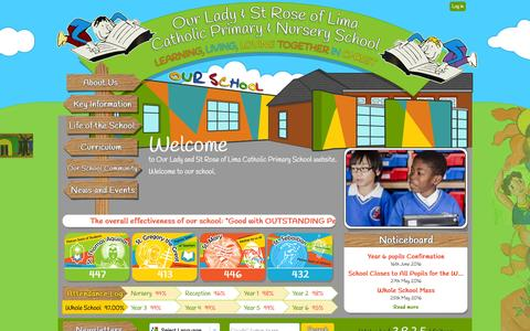 Screenshot of Home Page olstrose.bham.sch.uk - Home | Our Lady and St Rose of Lima Catholic Primary School - captured May 24, 2016