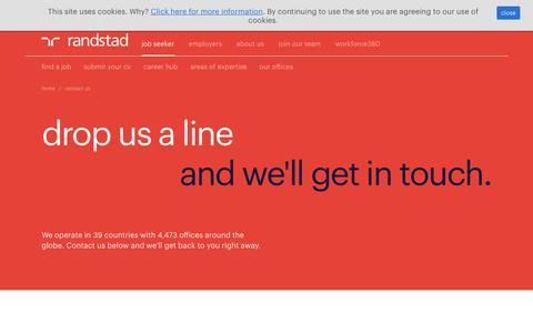 Screenshot of Contact Page randstad.co.uk - contact us | Randstad.co.uk - captured Dec. 1, 2017